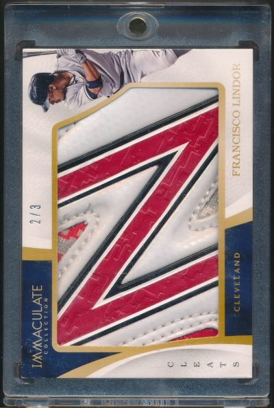 2017 Immaculate Collection Immaculate Jumbo Materials Cleats Francisco Lindor 2/3