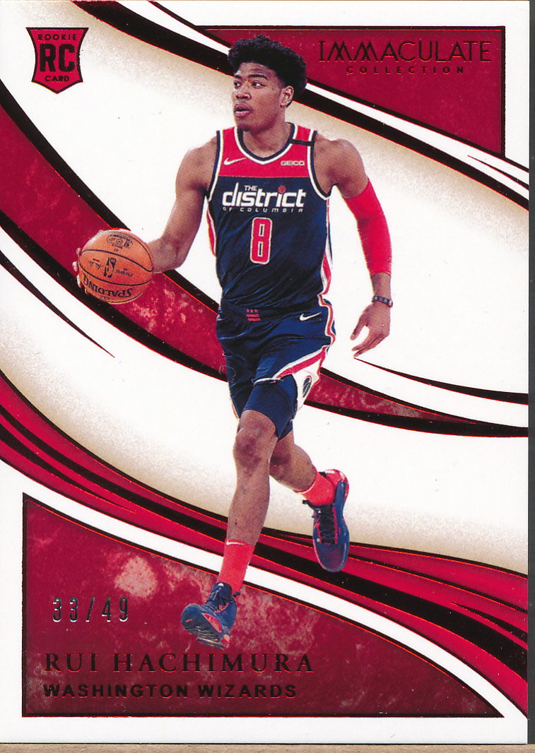2019-20 Immaculate Collection Red #84 Rui Hachimura RC /49