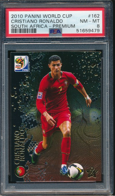 2010 Panini World Cup South Africa Premium Cristiano Ronaldo PSA 8