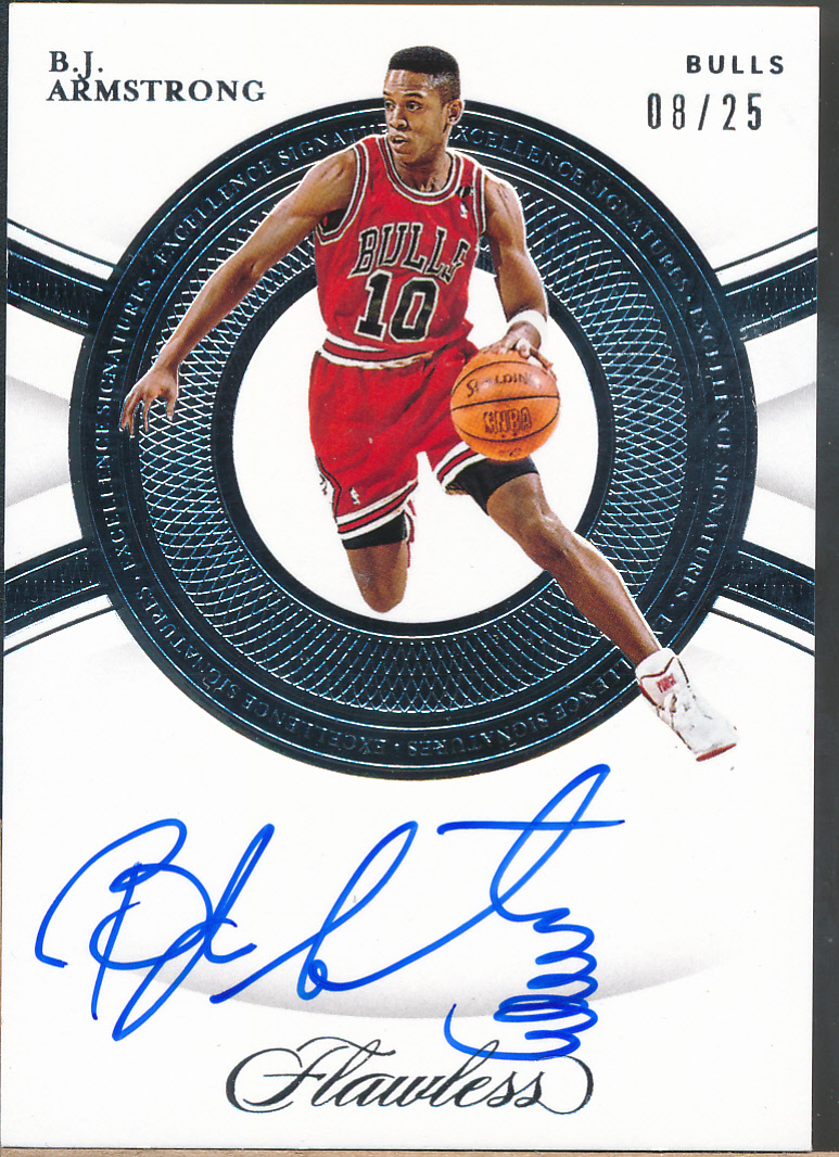 2019-20 Panini Flawless Excellence Signatures Silver B.J. Armstrong Auto /25