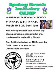 Taekwondo Day Camp For Spring Break