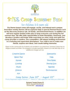 BTEE Offers A Great Summer Camp For Kids 2-5