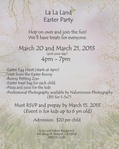 Easter Party At La La Land!