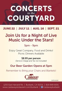 Castaway Offers 'Concerts In The Courtyard' This Summer