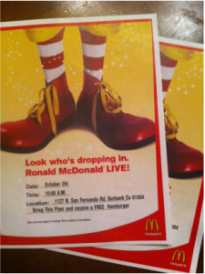 Ronald McDonald Will Drop In To A Local McDonald's October 5th
