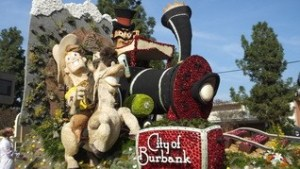 Burbank Rose Parade Float Viewing
