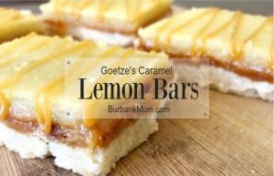 Delicious Goetze's Caramel Lemon Bars
