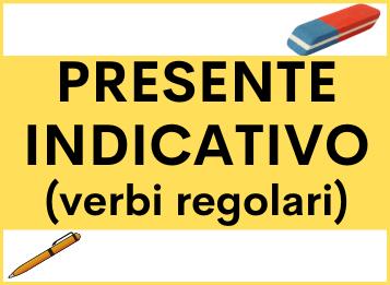 Presente indicativo verbi regolari spagnolo
