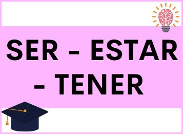 Ser, estar y tener in spagnolo