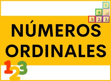 Los números ordinales en español