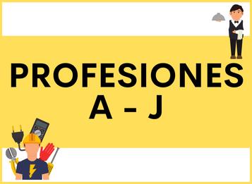 PROFESIONES y OFICIOS en español