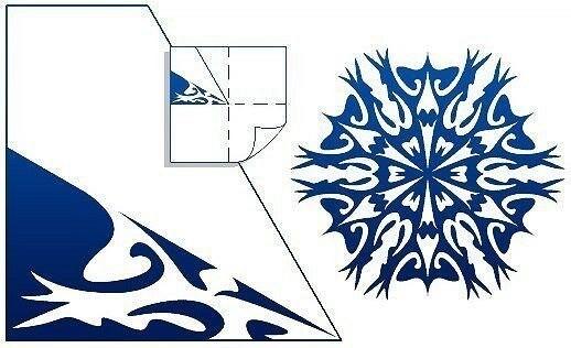 最美丽的纸雪花:不同复杂性的40个模板