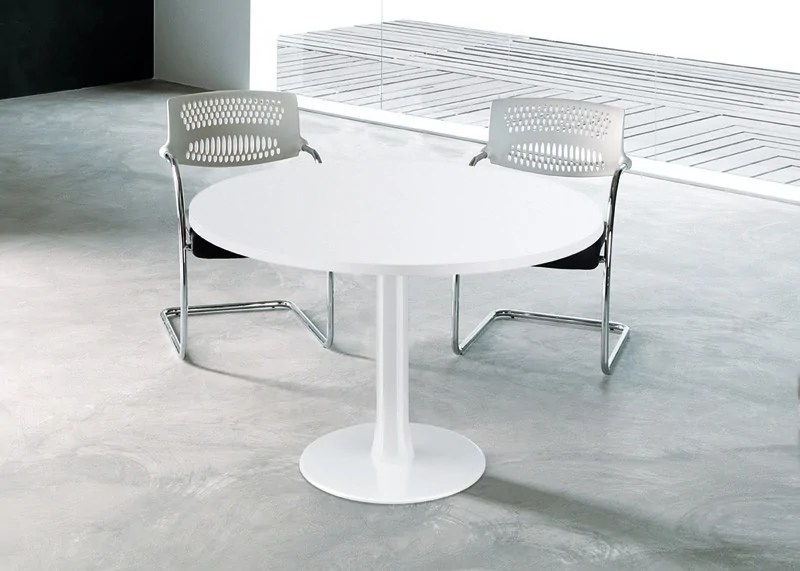 Table De Runion Ronde Idea Pied Central Quadrifoglio