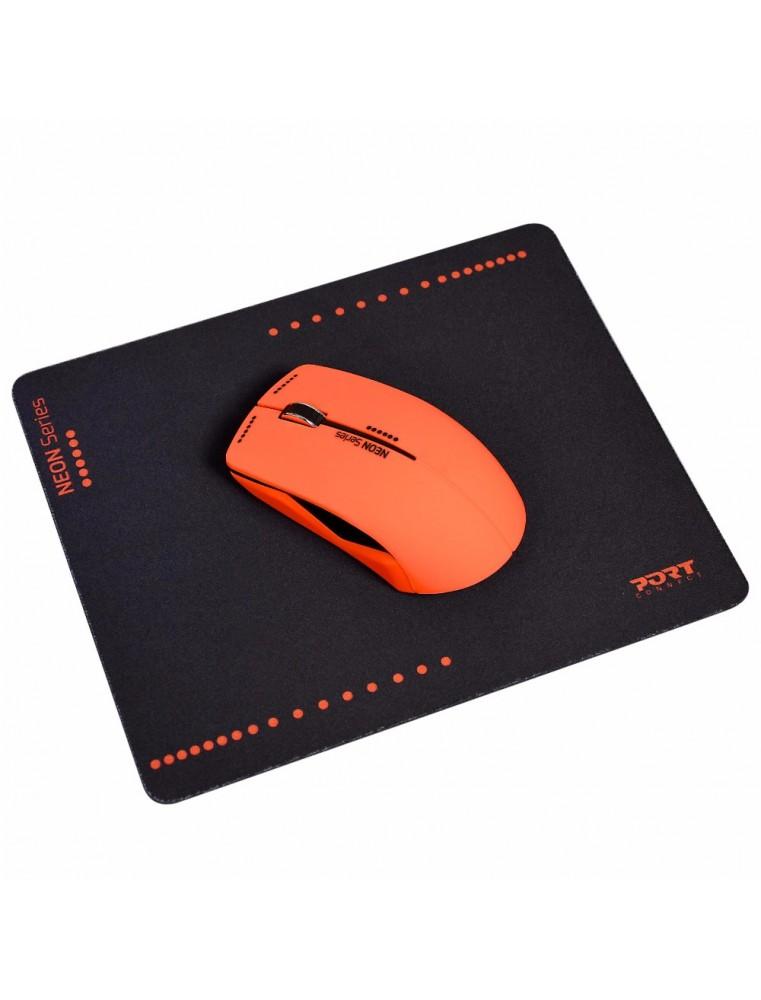 port connect souris sans fil neon tapis de souris rouge bureau valla c e maurice