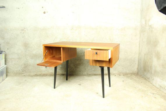 vintage mid century bureau met bureaustoel