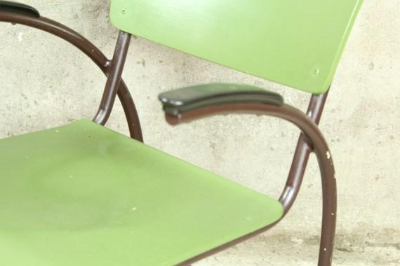 Vintage Gispen of Tubax set met tafel en fauteuil