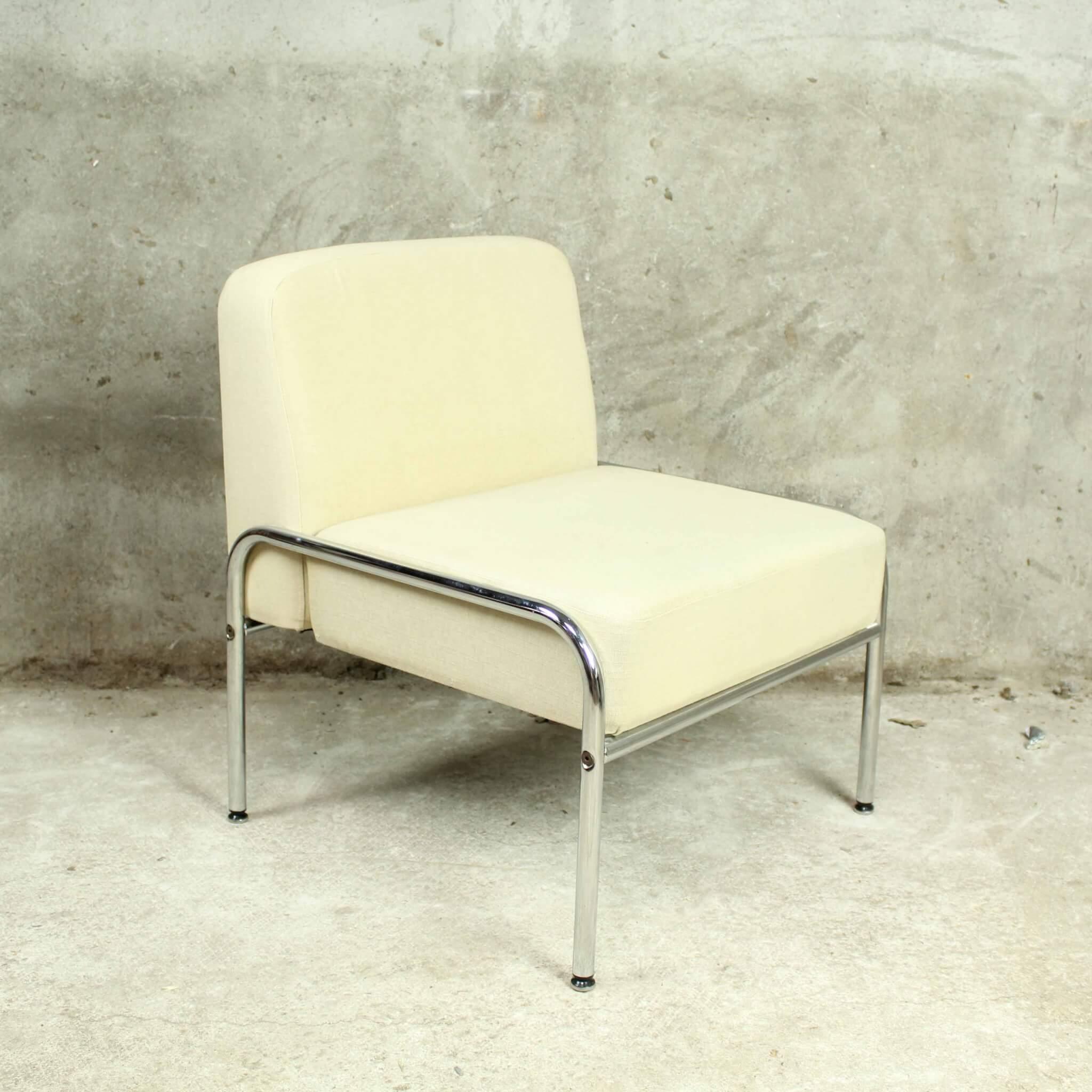 Wonderbaarlijk Strak vormgegeven retro buisframe fauteuils - Bureau Baantjer JN-21