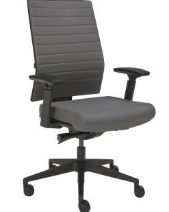 Ergo 666 bureaustoel m et gijze stog en zwart kruisvoet. Bureaustoelen MKB