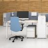 """Bureau Nova HI, met witte poot en Oak blad Narbutas """" Bureaustoelen MKB"""
