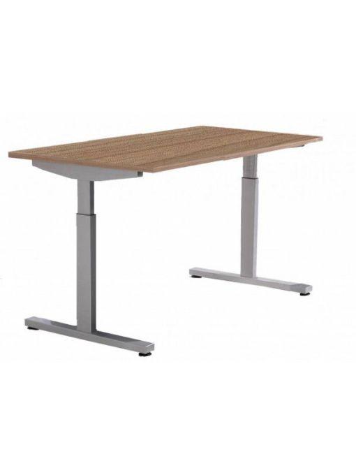 Pinta bureau met alu poot en havanna blad | Bureaustoelen MKB