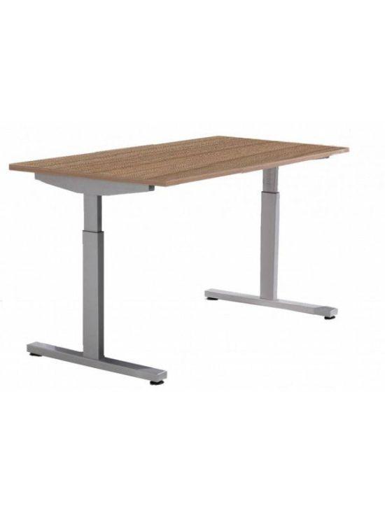 Pinta bureau met alu poot en havanna blad   Bureaustoelen MKB