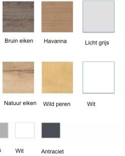 Pinta bureau bladkleuren en poot kleuren. Bureaustoelen MKB