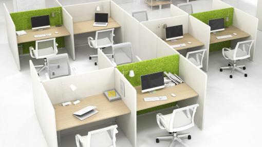 MY Space bureau en scherm en stoelen   Bureaustoelen MKB