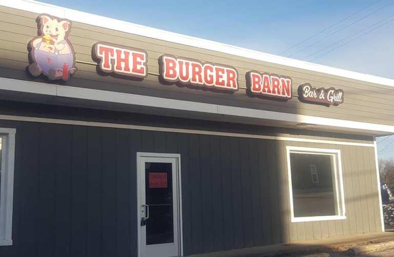 the burger barn's front door
