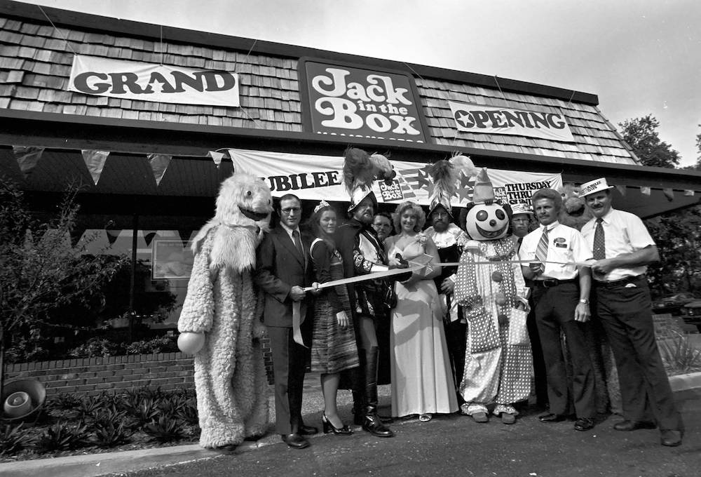 Jack in the Box Grand Opening in St. Petersburg, Florida November 11th, 1976