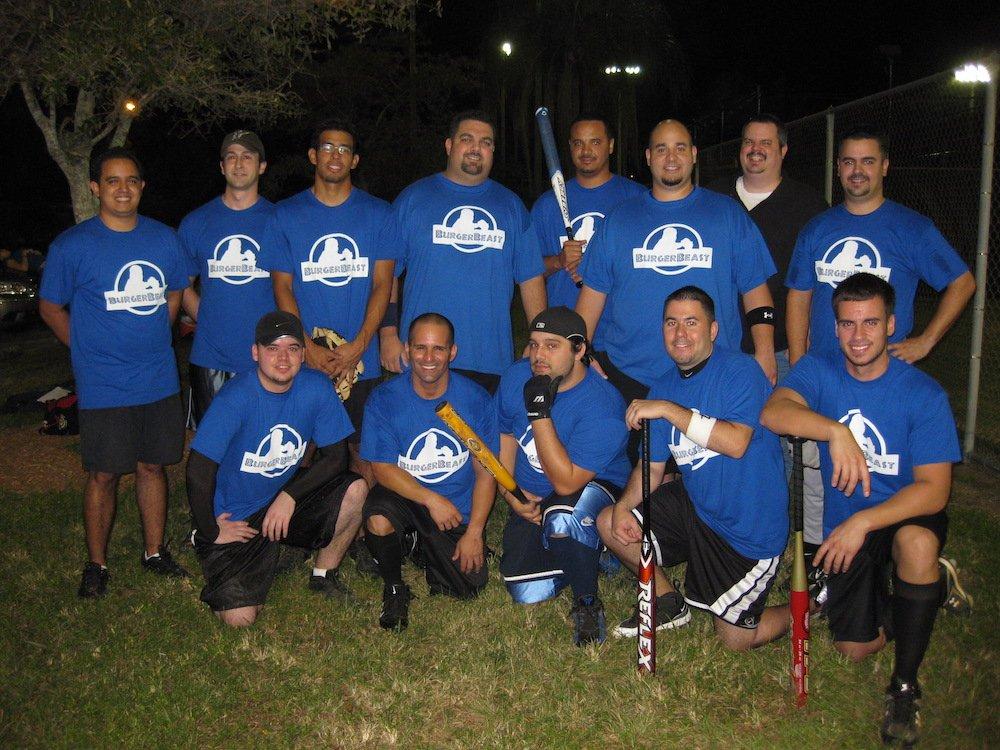 The Burger Beast Softball Team