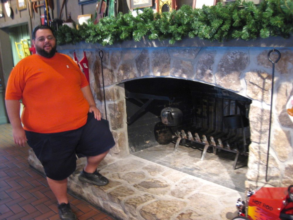 Fred by the Cracker Barrel Fireplace