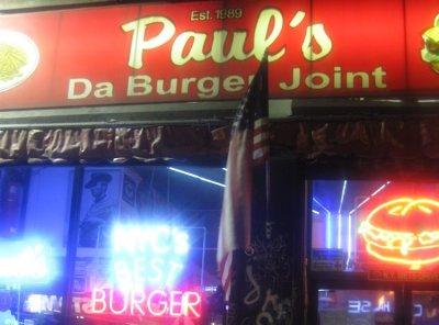 Paul's Da Burger Joint - New York, New York