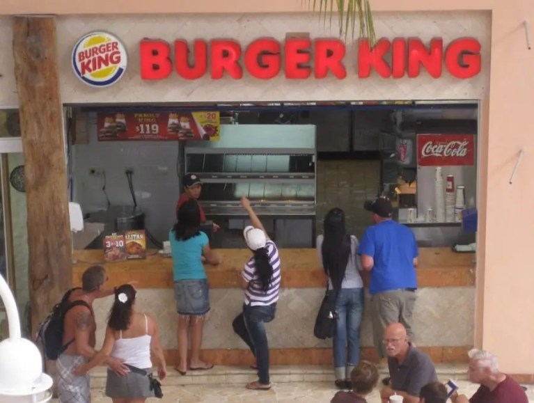 Burger King in Cozumel, Mexico