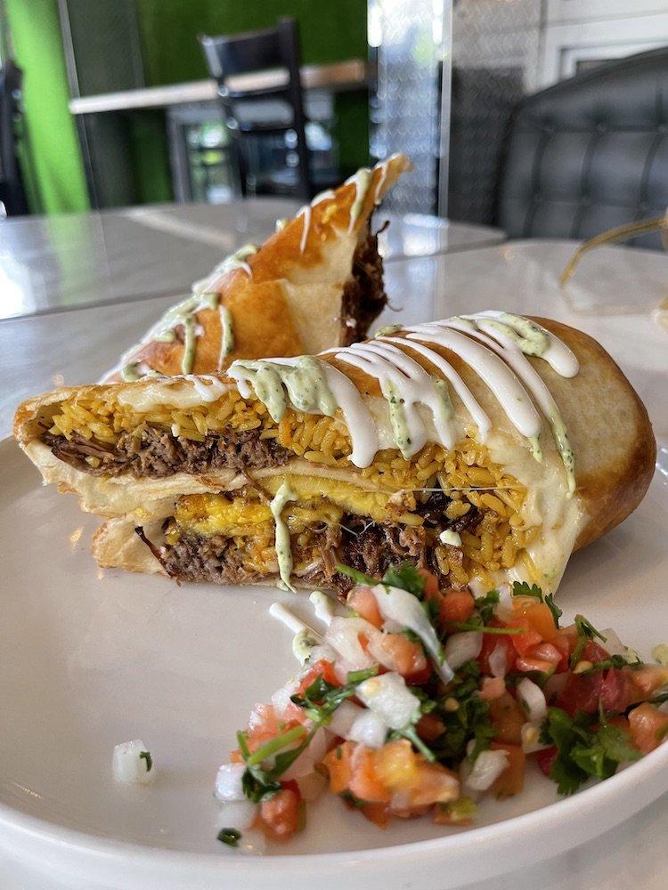 Latin House Chimi Burrito
