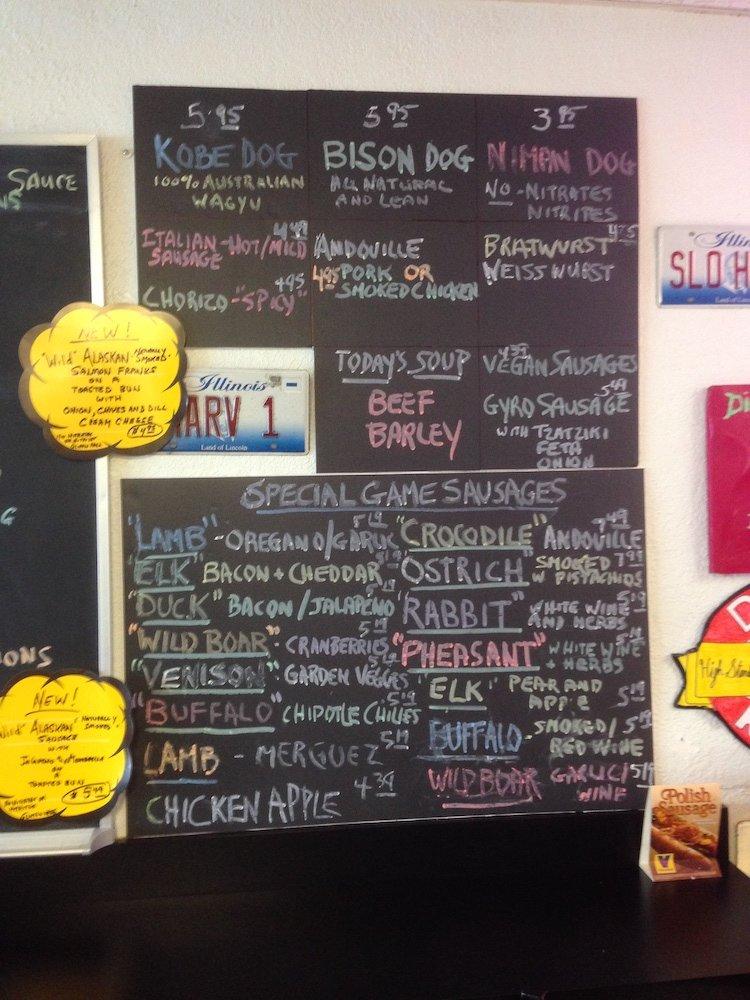 Hotdog Opolis right side of menu