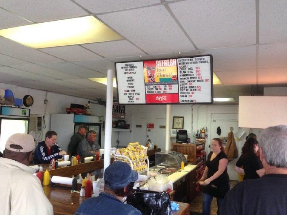 Inside Brandi's Hot Dogs in Marietta, Georgia
