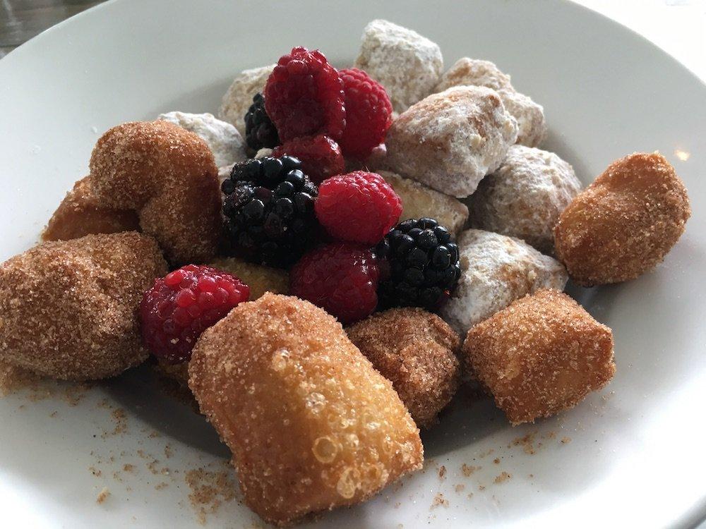 Homemade Cinnamon Sugar & Powdered Donut Holes