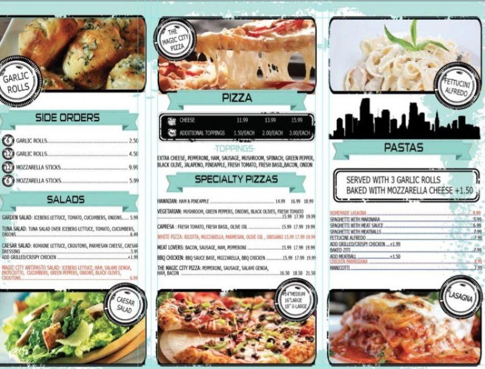 Magic City Pizza Menu P2