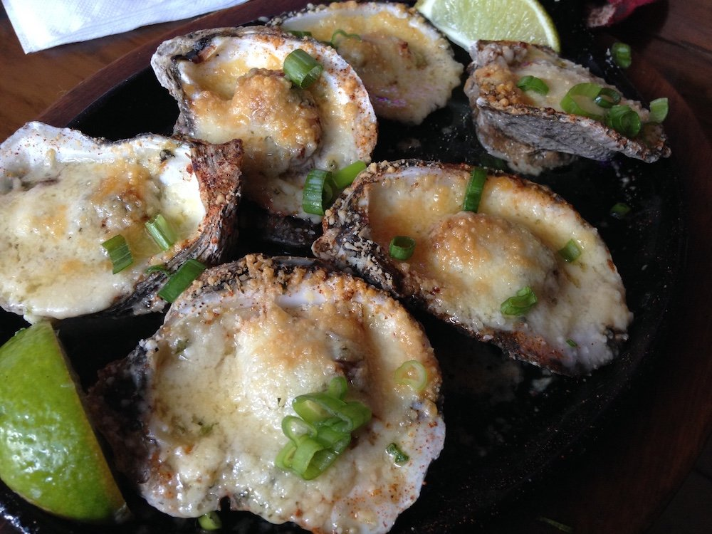 Broiled Oysters w/Parmesan Cheese & Garlic Butter