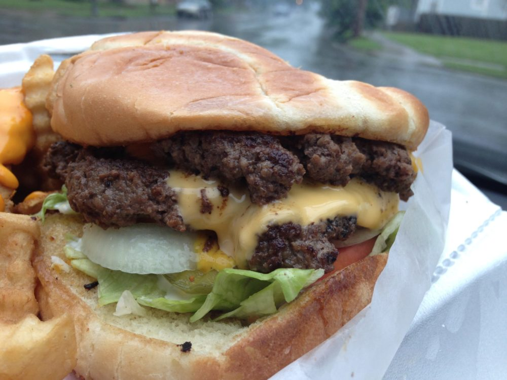 Double Cheeseburger with Lettuce & Tomato