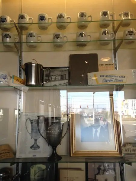 Memorabilia inside White Castle HQ