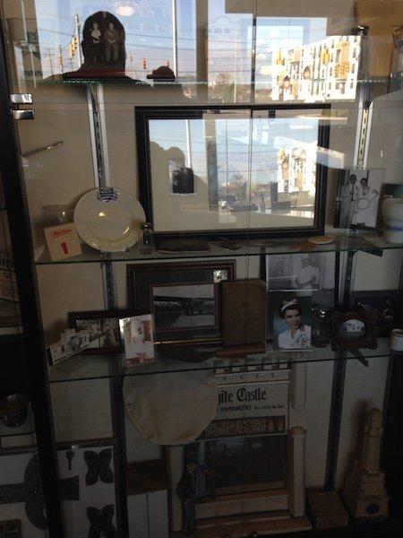 Memorabilia inside White Castle HQ