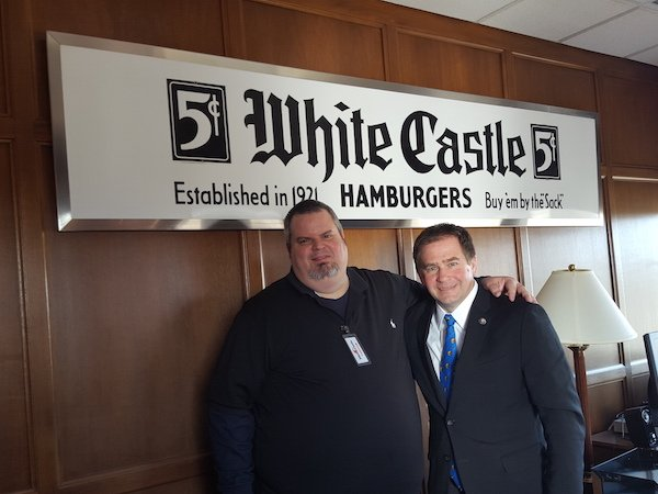 Burger Beast w/White Castle VP Jamie Richardson