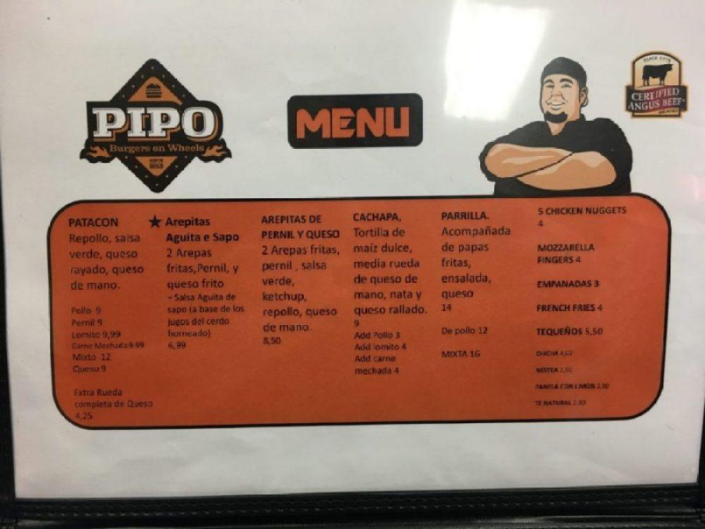 Pipo Burger Menu Page 2