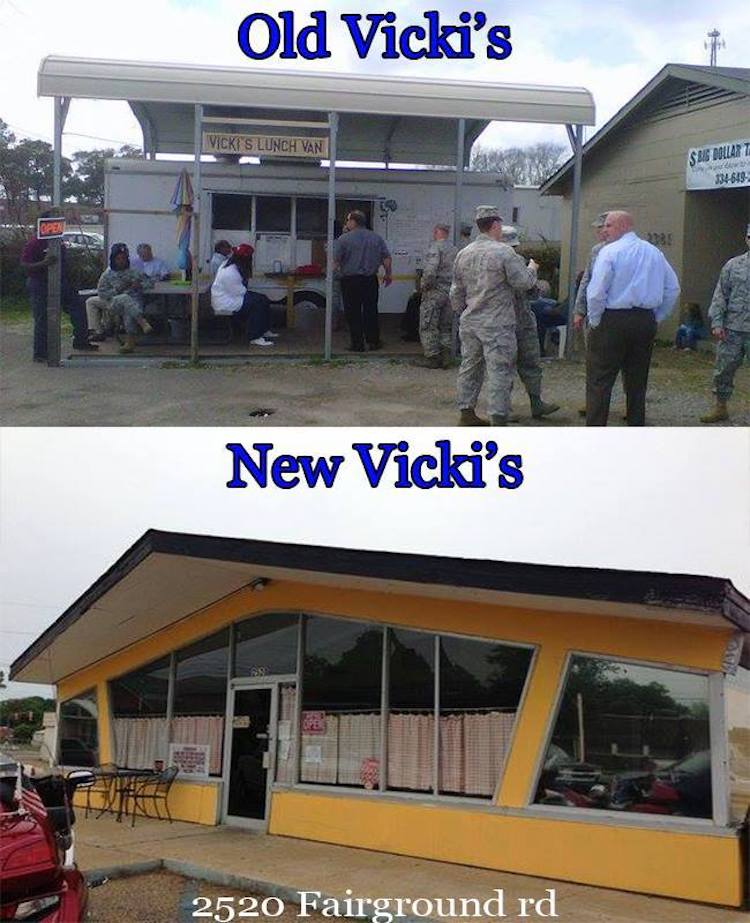 Vicki's Lunch Van, Before & After