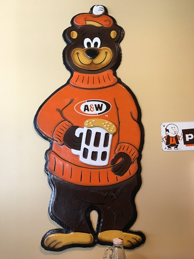 Root Bear Wall Sign