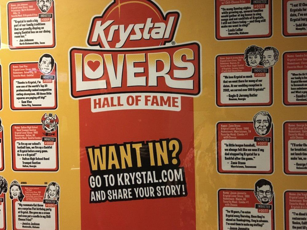 Krystal Lovers Hall of Fame