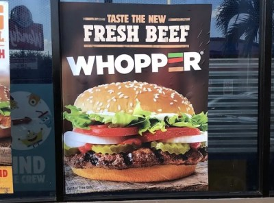 Burger King Whopper made with Fresh Beef