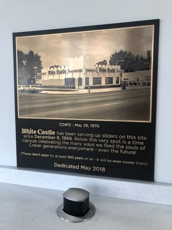 Plaque for the Time Capsule