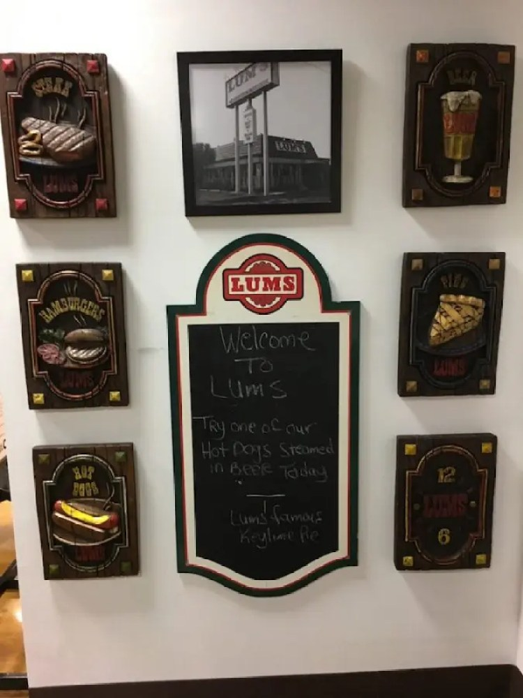 LUMS chalkboard and sign from the Burger Museum